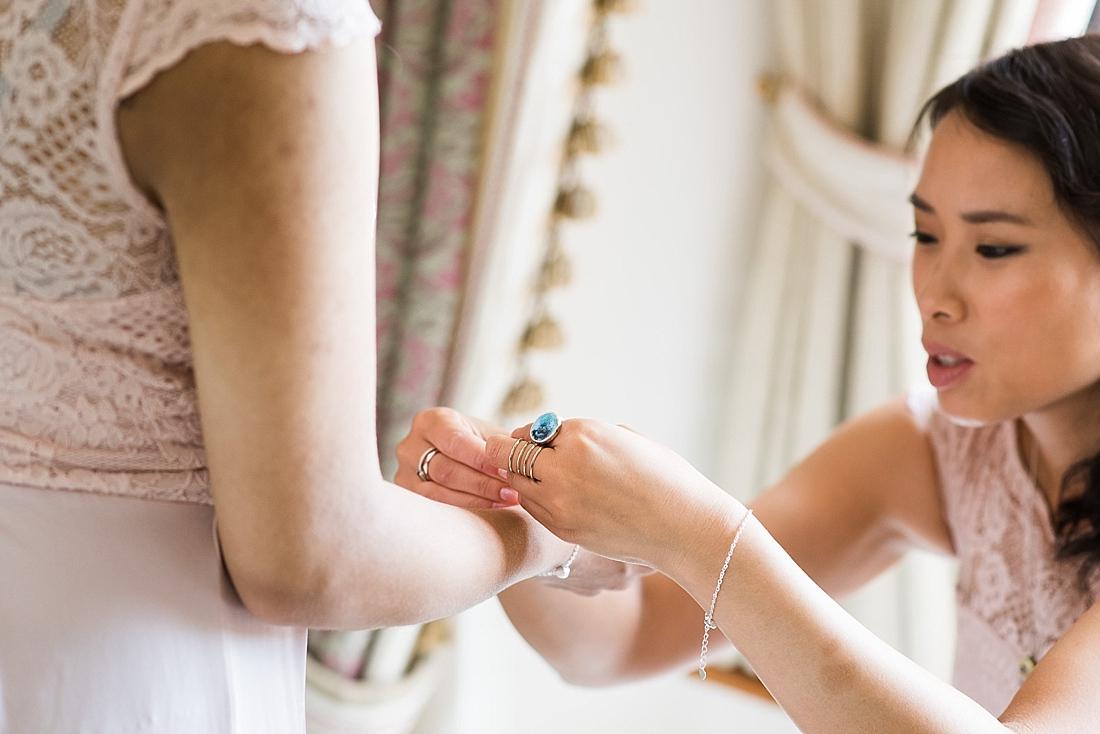 Asos bridesmaids prepare pre wedding photography