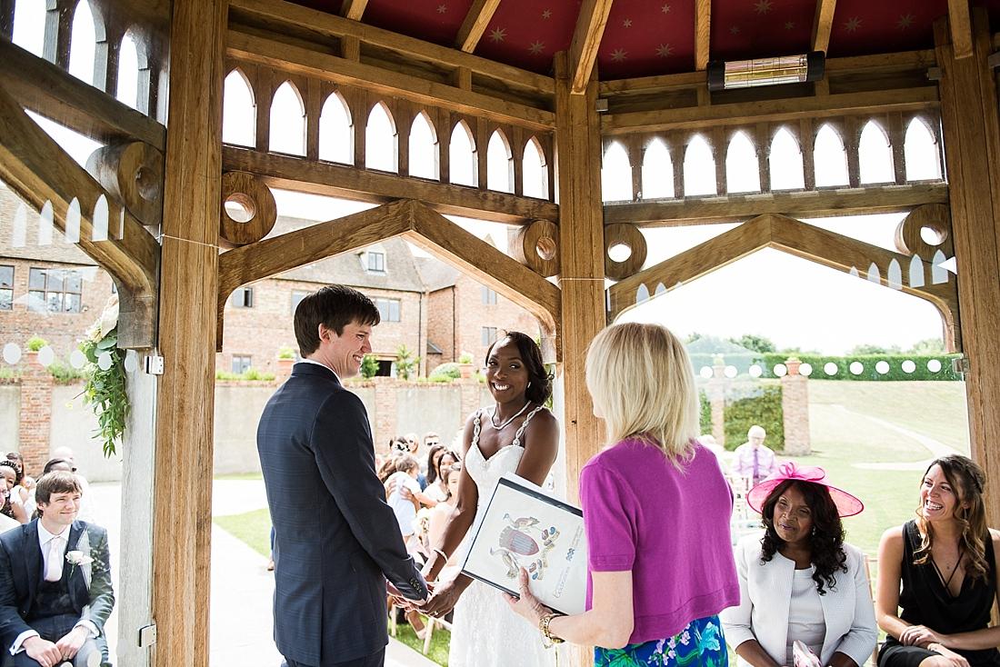 Outdoor elegant summer wedding ceremony