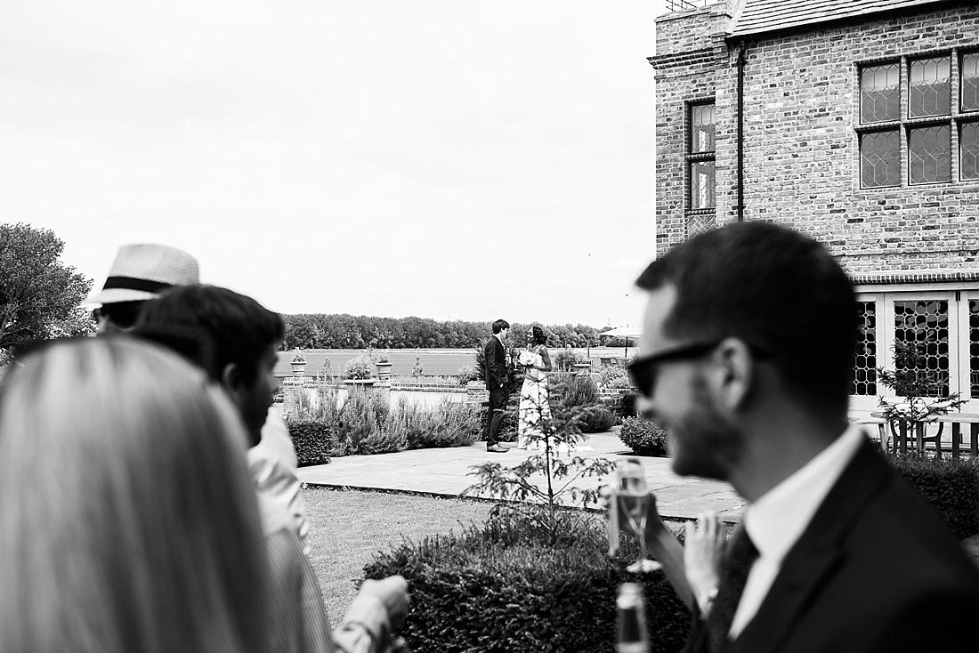 Countryside wedding portrait unobtrusive wedding photography