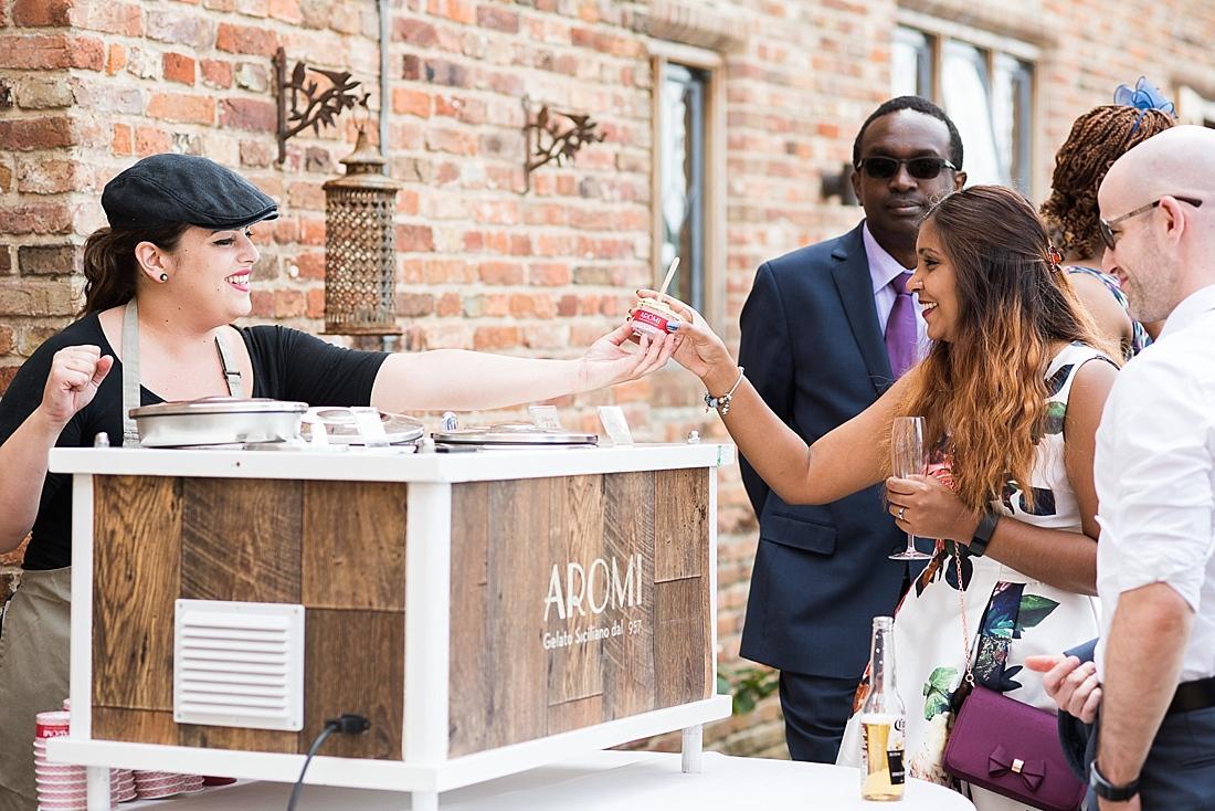 Aromi ice-cream summer wedding