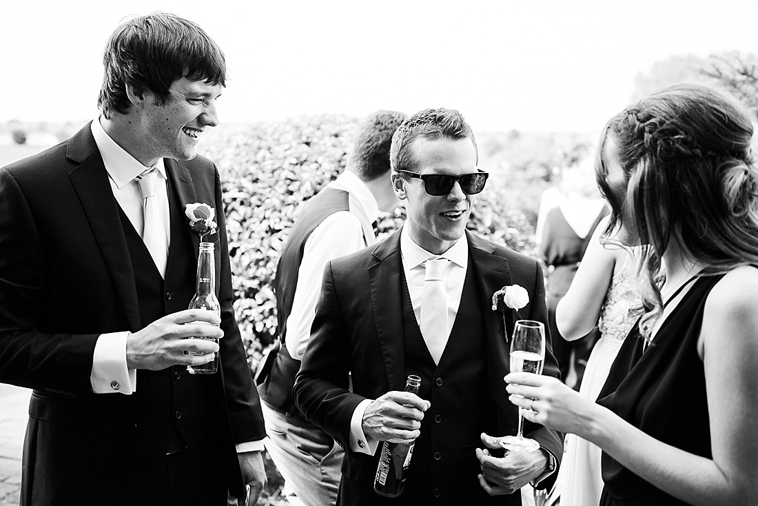 Fun happy outdoor summer wedding