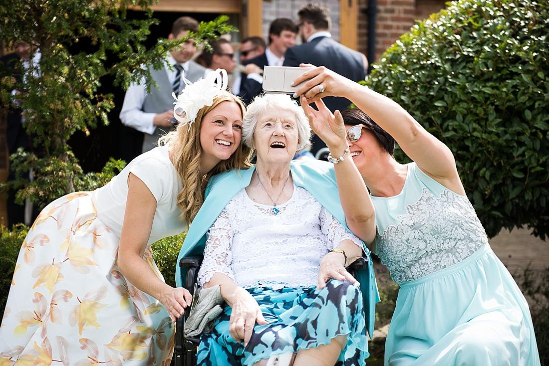 Fun selfie lively summer wedding