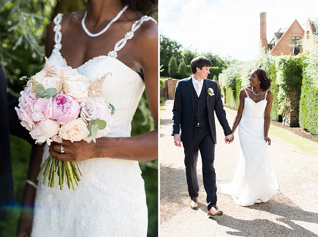 Burr Bridal holding Larkspur Floral Design with Ted Baker groom