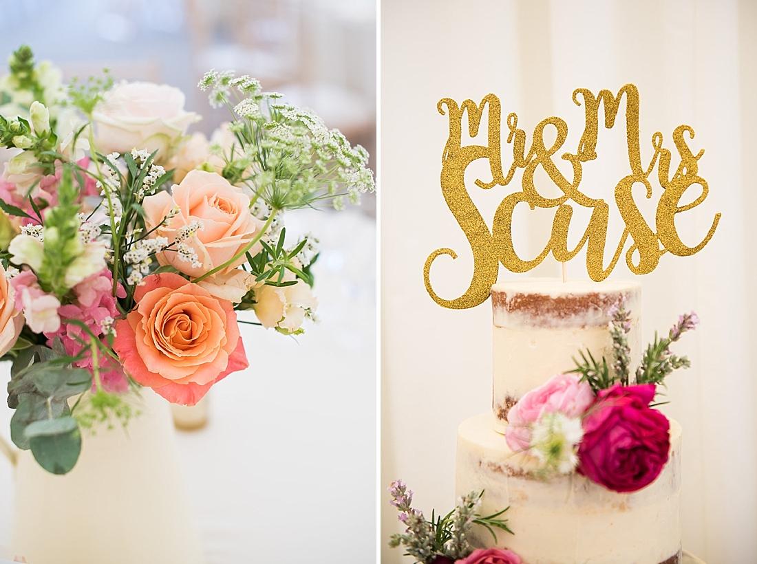 Larkspur Floral Design with Emily Harmston Cakes wedding cake
