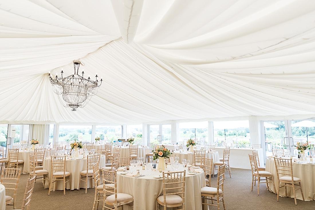 Elegant pretty wedding decor The Old Hall Ely