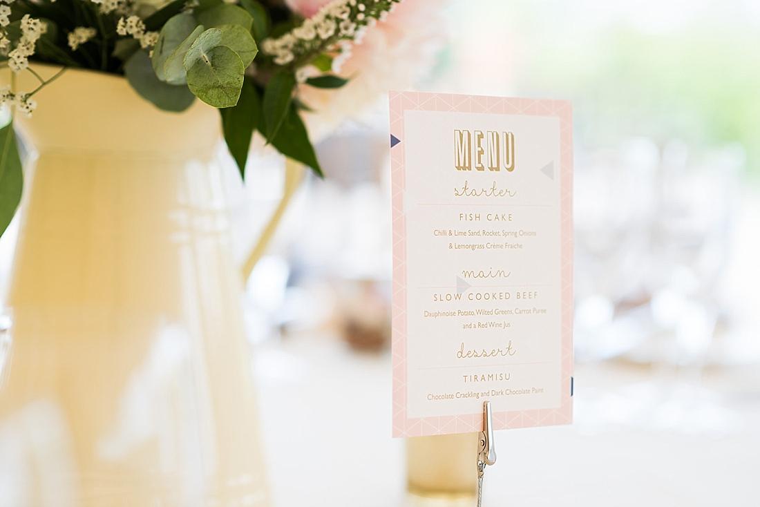Paper Arrow Press pink wedding stationery