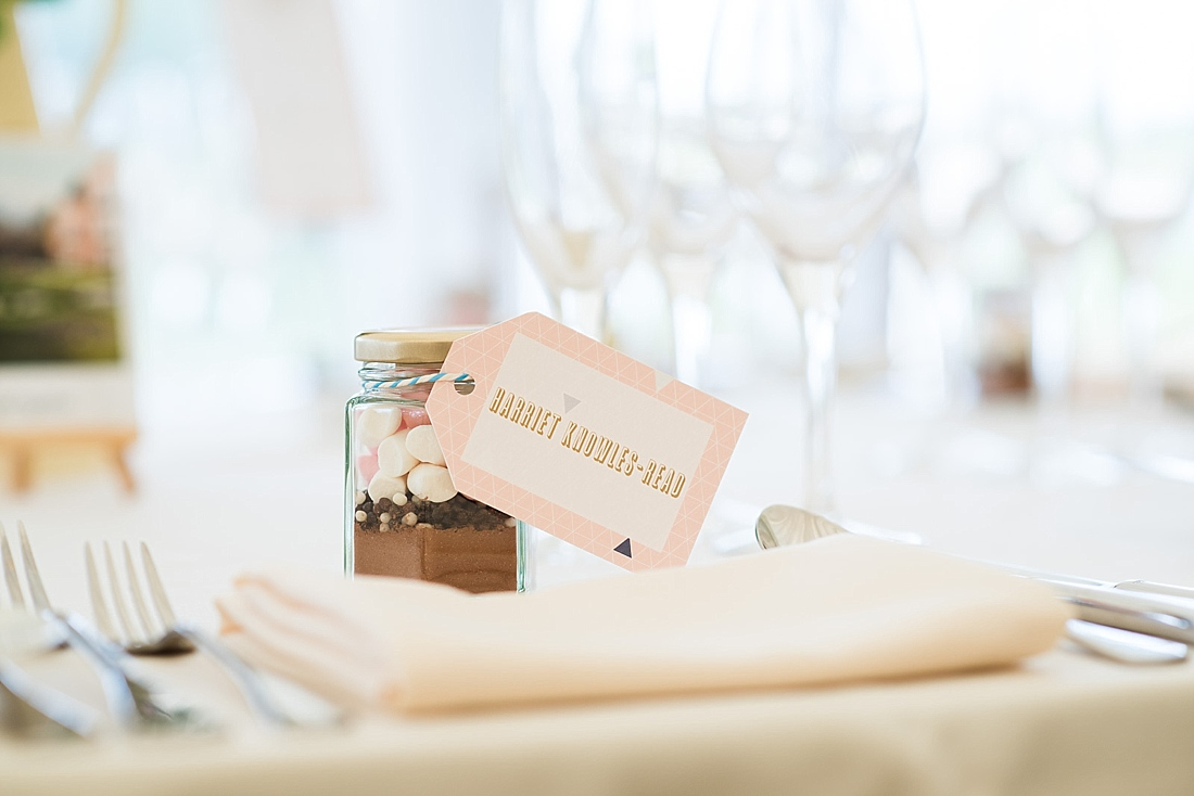 Wedding favour sweet jar