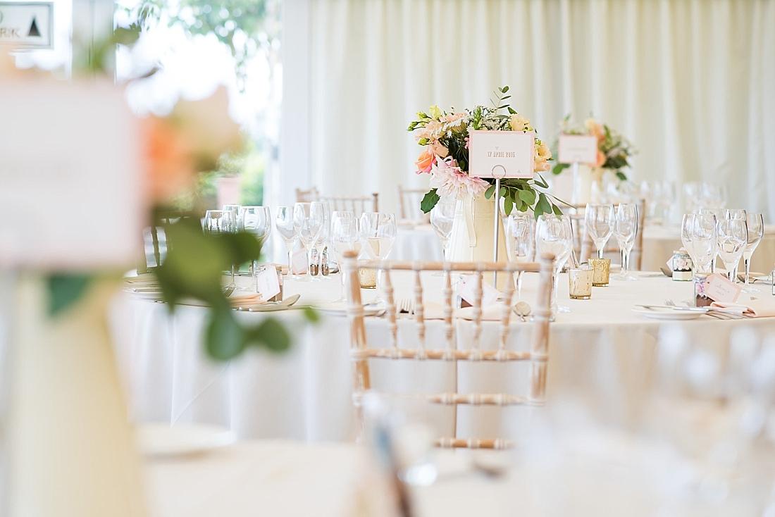 Elegant pretty wedding table decor