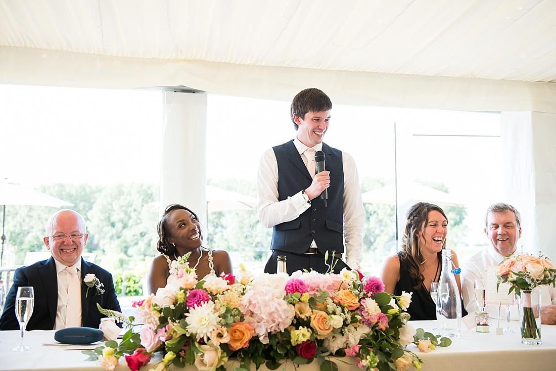 Ted Baker groom delivers speech