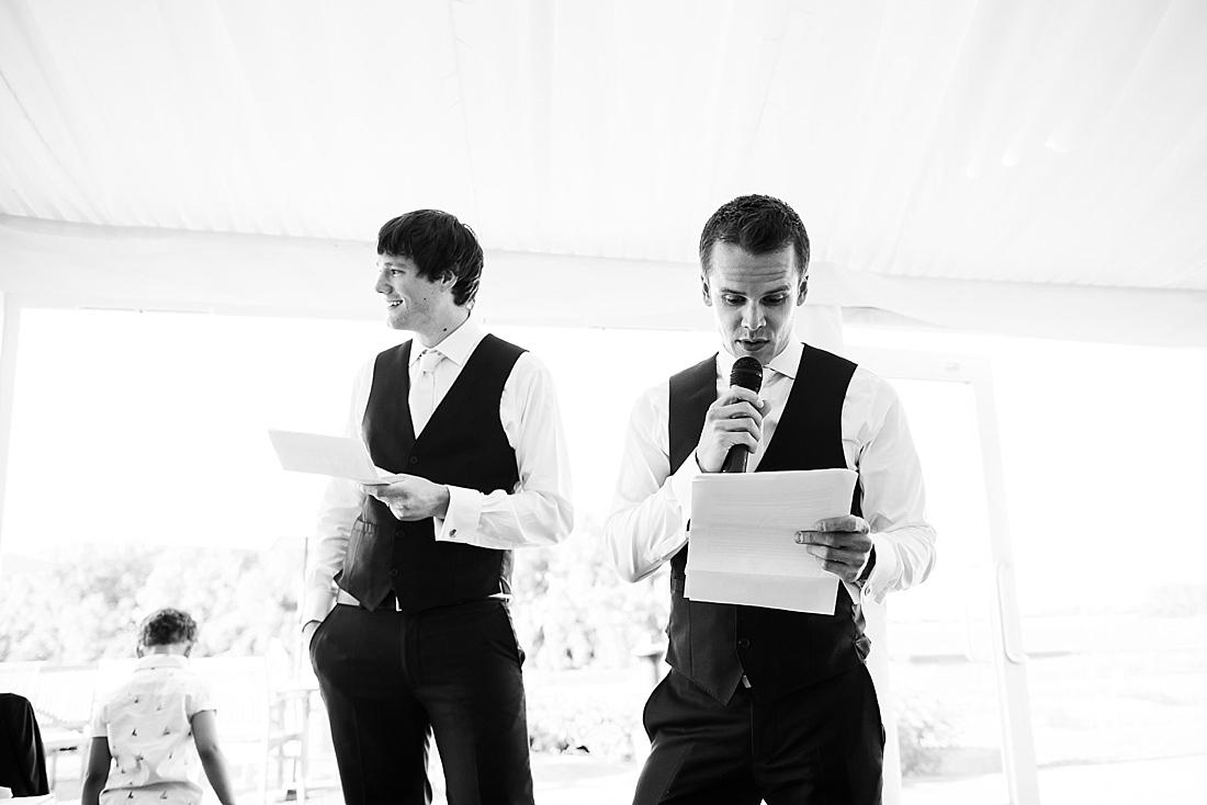 Best man with groom wedding speech