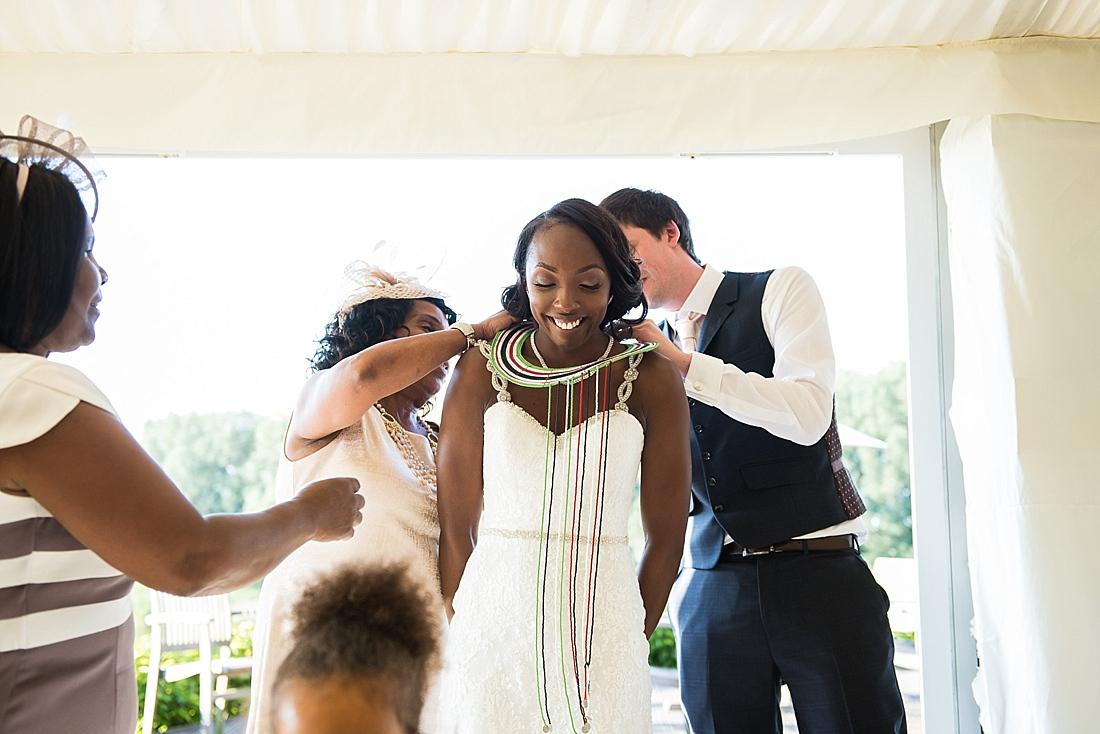 Traditional Kenyan bridal clothing