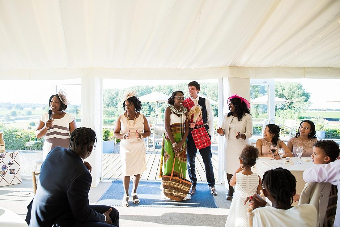 Traditional Kenyan wedding dress