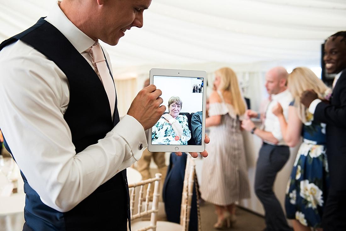 Virtual wedding guest
