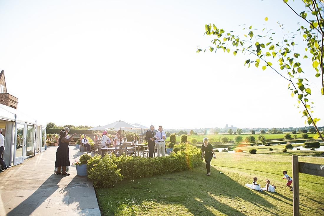 Beautiful sunny outdoor wedding