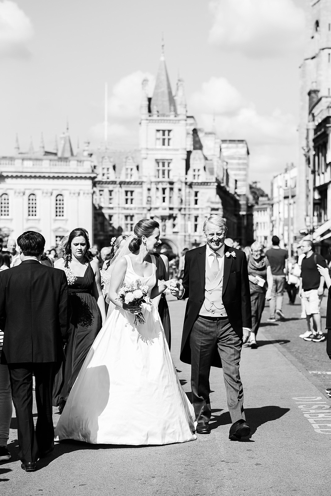 Fine art wedding photography Suzanne Neville bride with Father