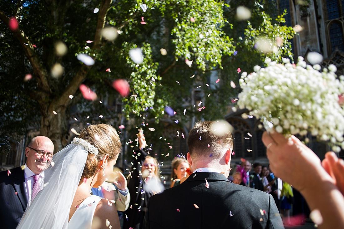 Creative confetti wedding portrait