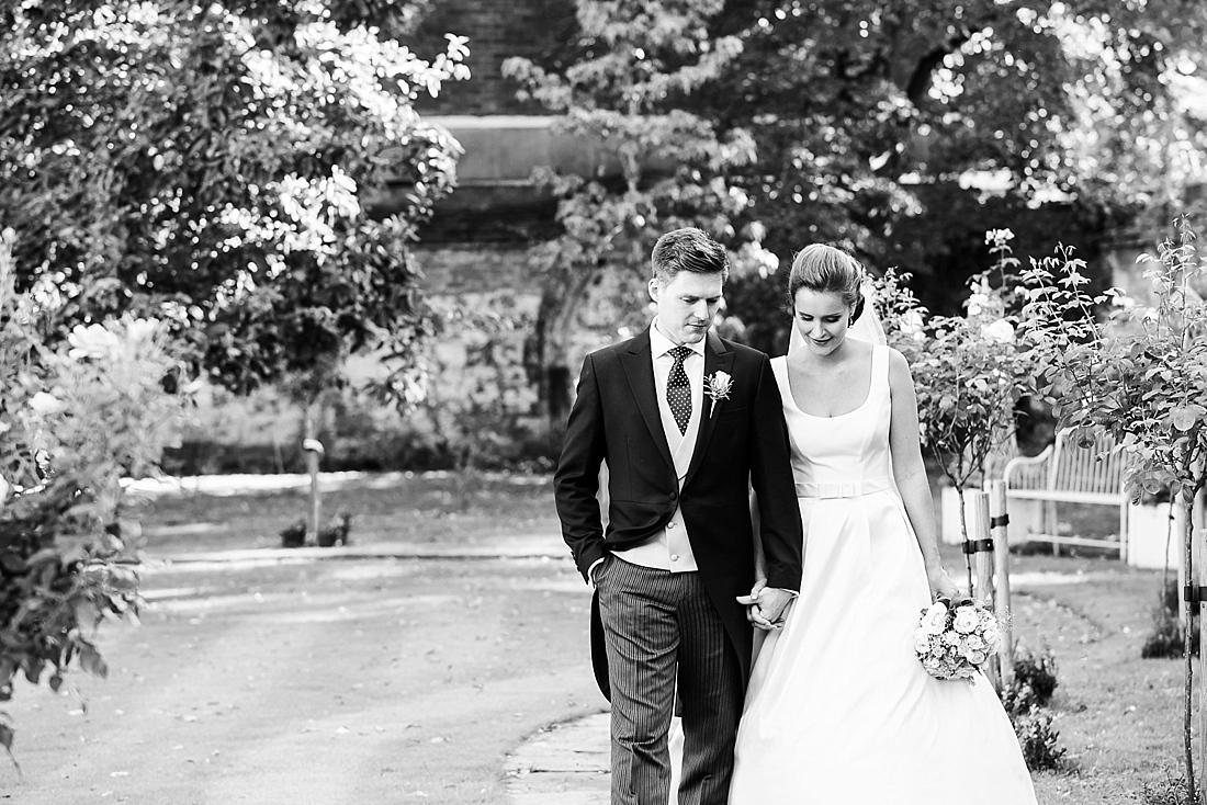 Natural wedding portrait Kings College