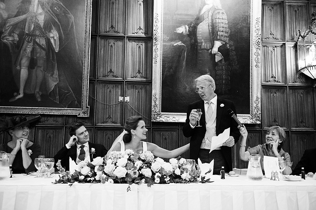 Father delivers speech Kings College wedding