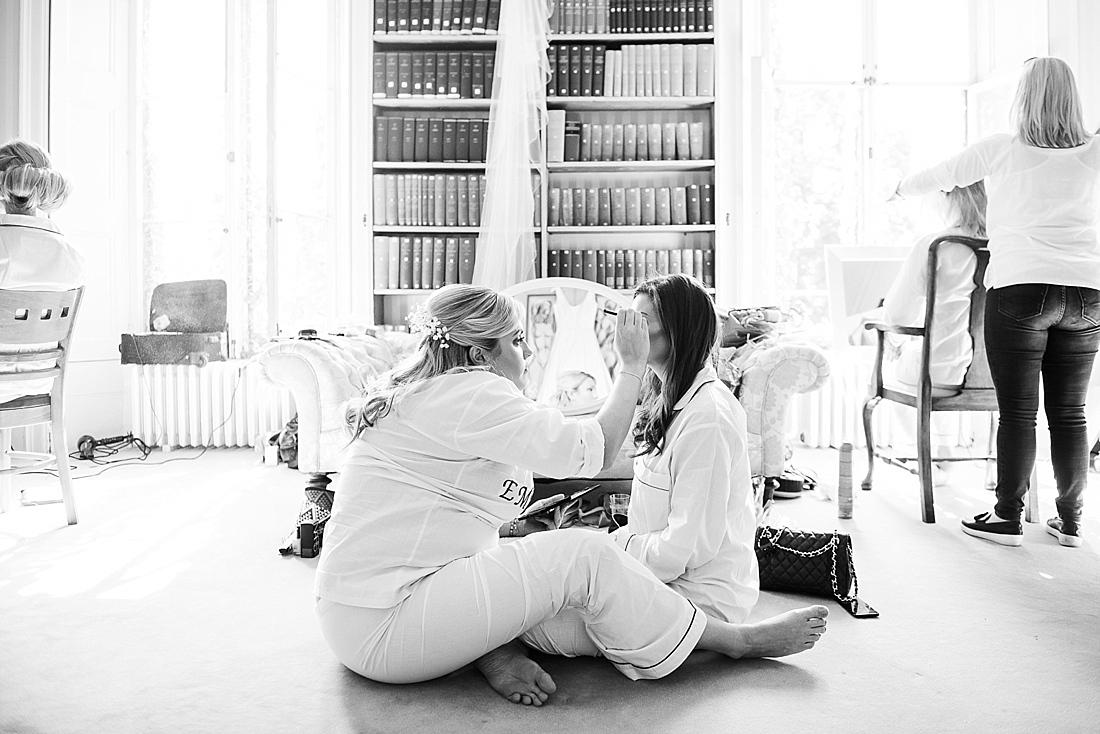 Fun bridesmaids make over session