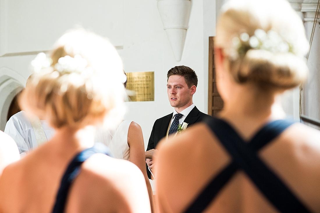 Groom waiting pre wedding ceremony Debenhams bridesmaids watch