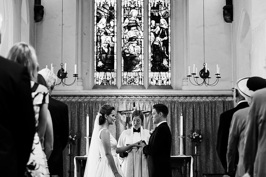 Fine art wedding photography church ceremony