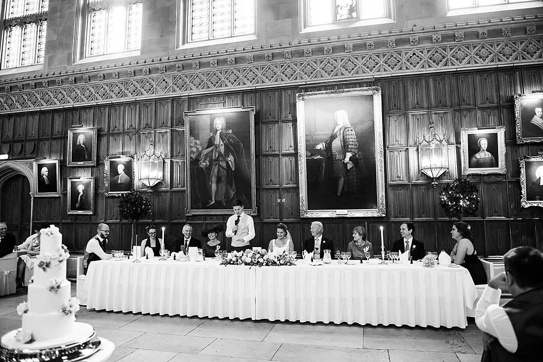 Wedding speech elegant wedding venue Kings College