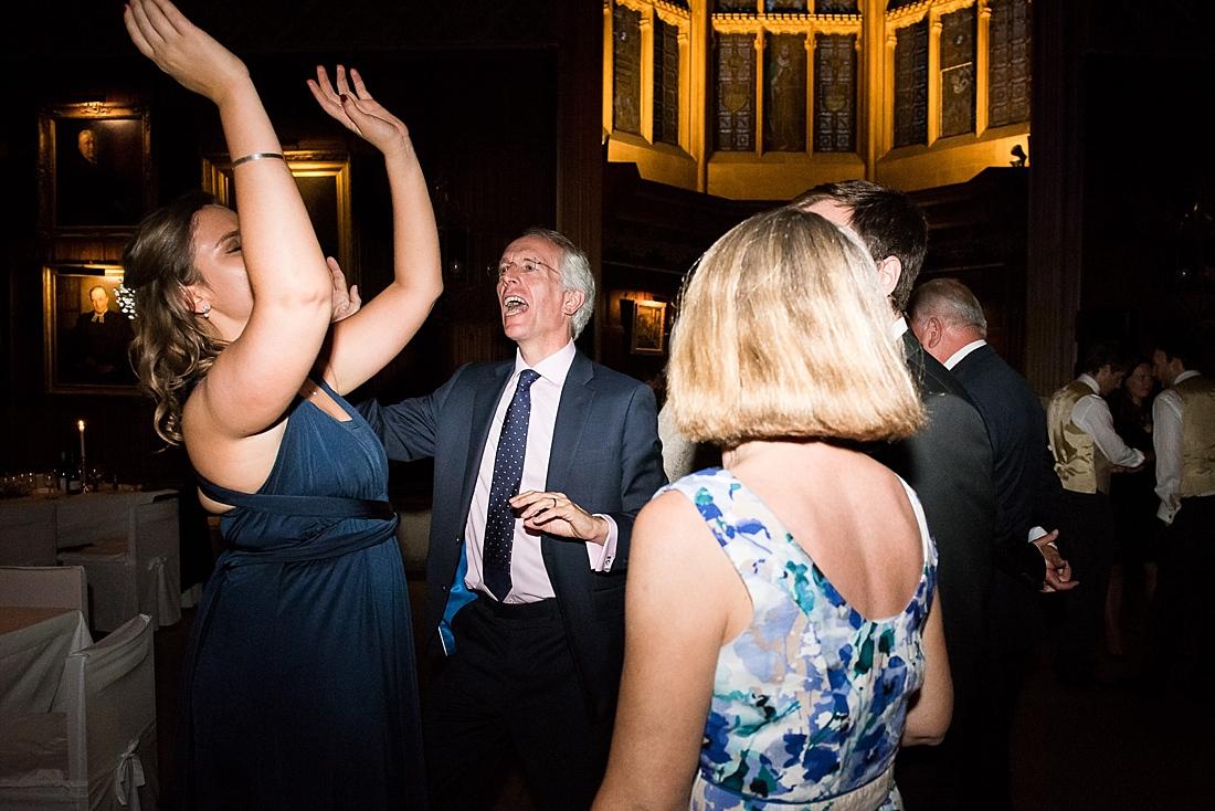 Fun wedding dancing Blue Lion Band