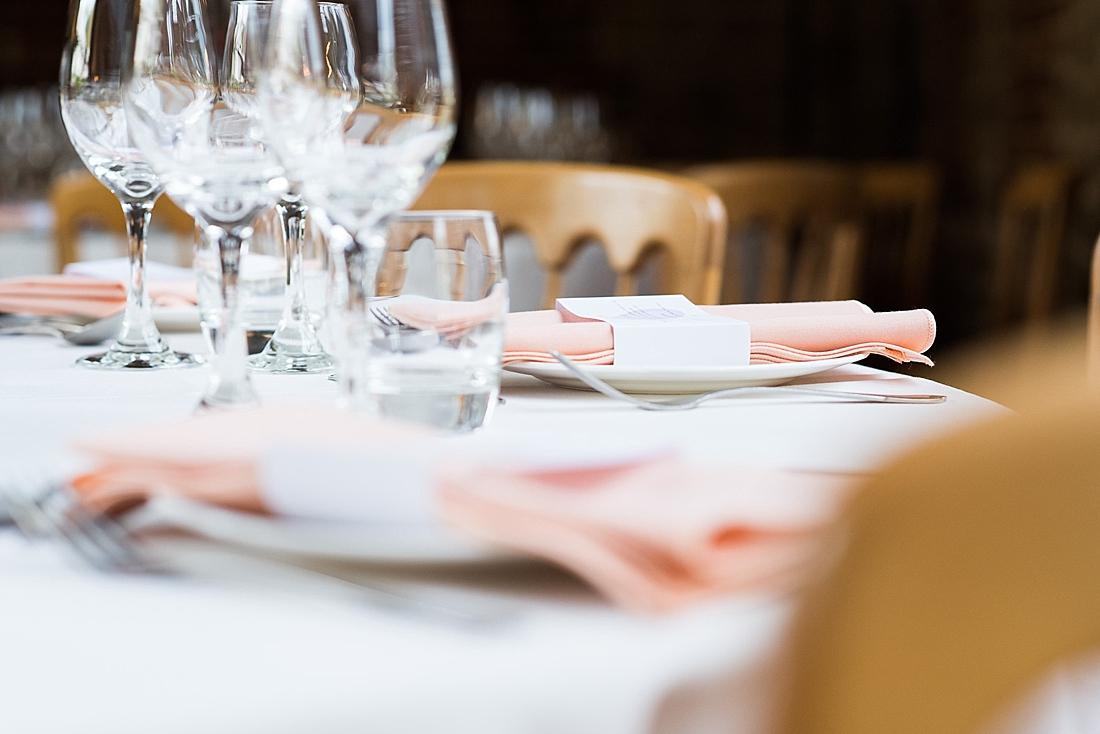 Stylish wedding table decor