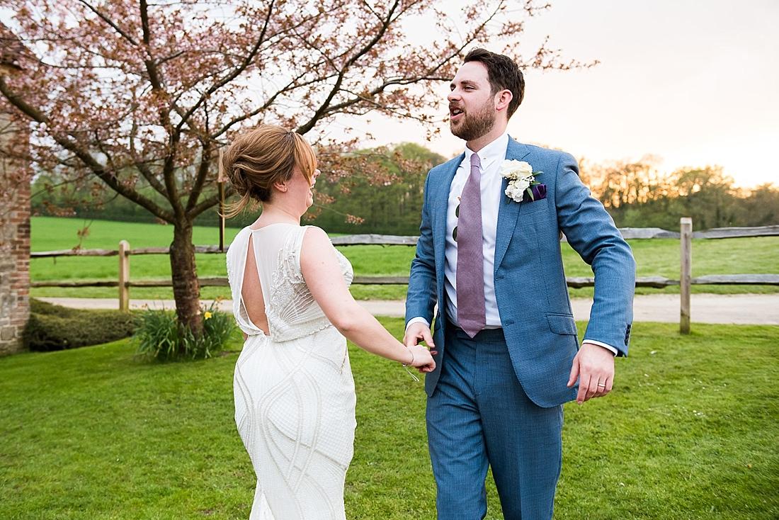 Dancing wedding portrait
