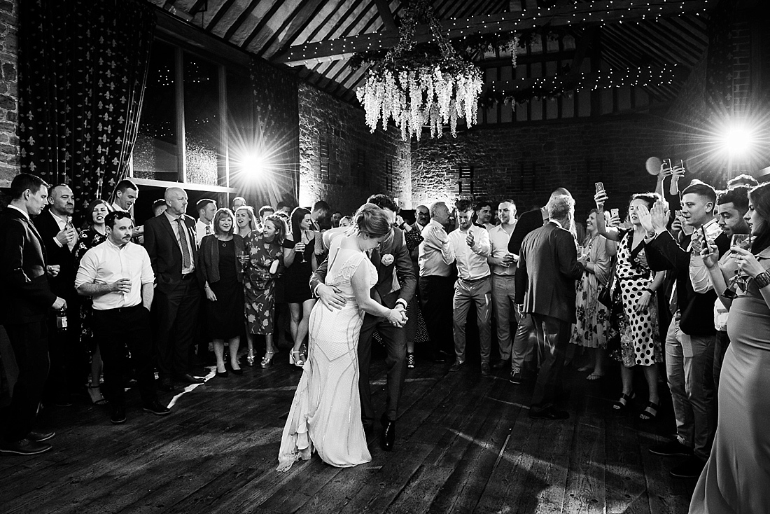 Elegant first dance for bride and groom