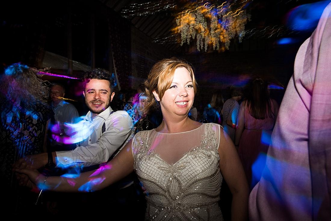 Happy bride enjoying wedding dance floor