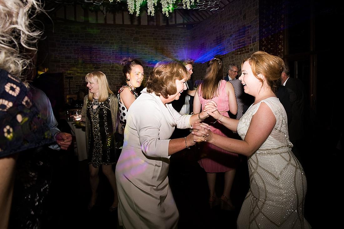 Rosa Clara bride dancing with Mum