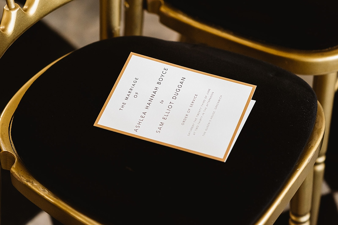 Emmy Designs modern wedding program