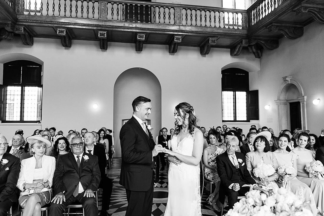 black and white London wedding photography