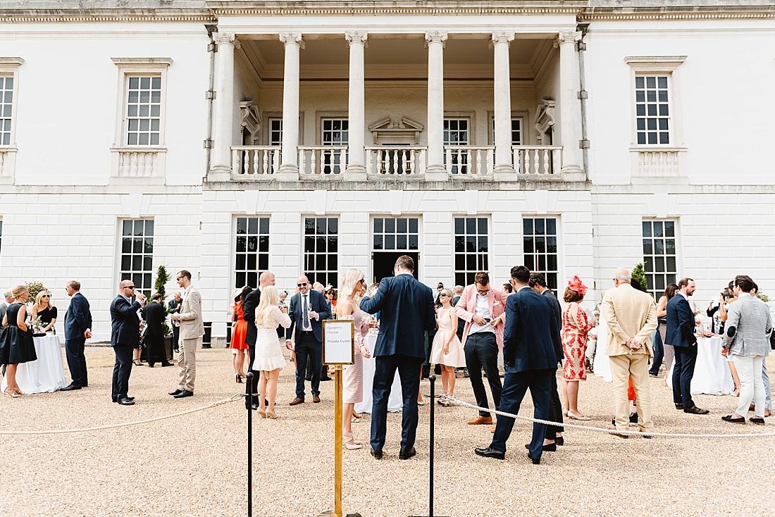 Drinks reception Greenwich wedding