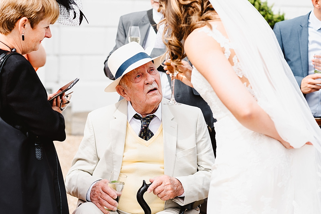 Grandpa at wedding London