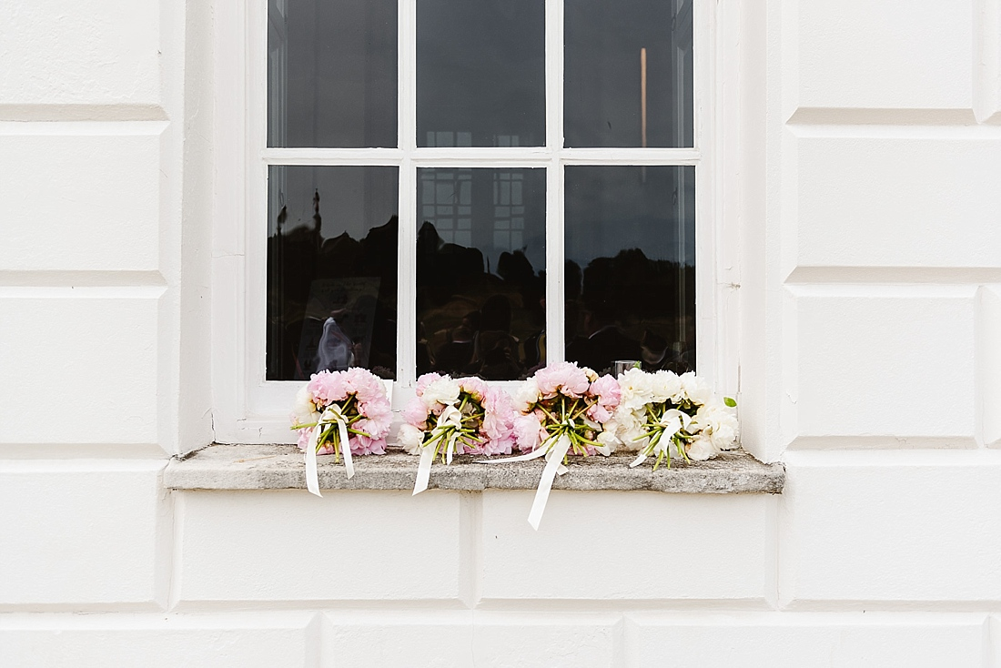 pink peonies bridesmaid bouquets London