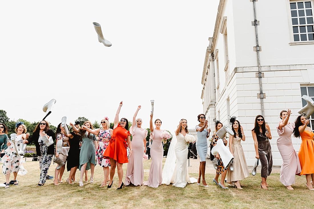Welly wanging London wedding