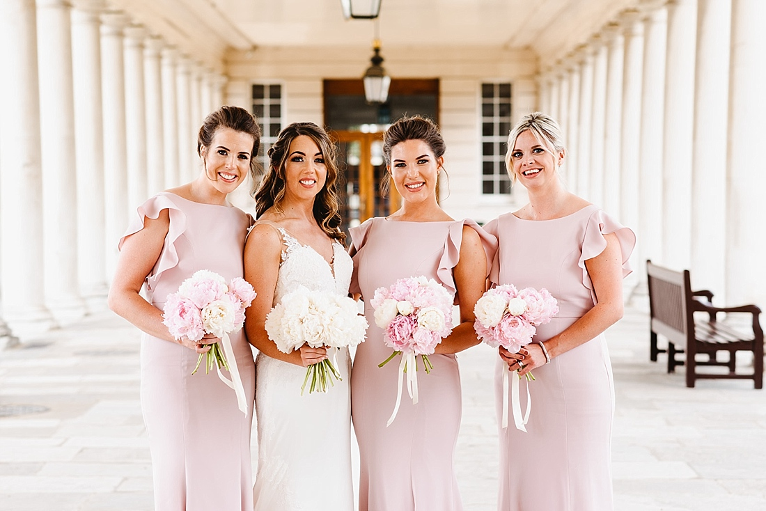 bridal party pink and white theme London