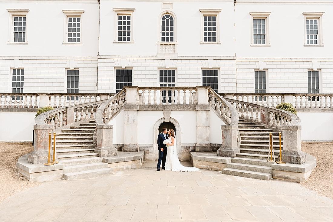 Wedding portrait double staircase London