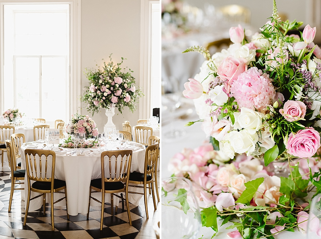 pink and white wedding flower inspo