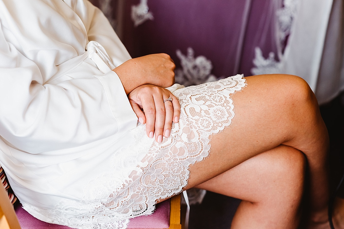 lace dressing gown for bride