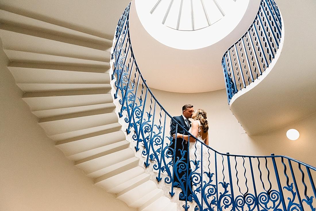 Romantic wedding portrait Queens House