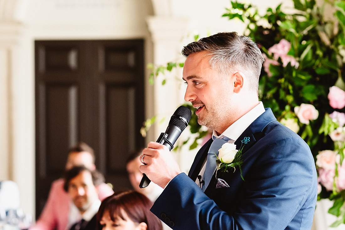 Groom speech London wedding