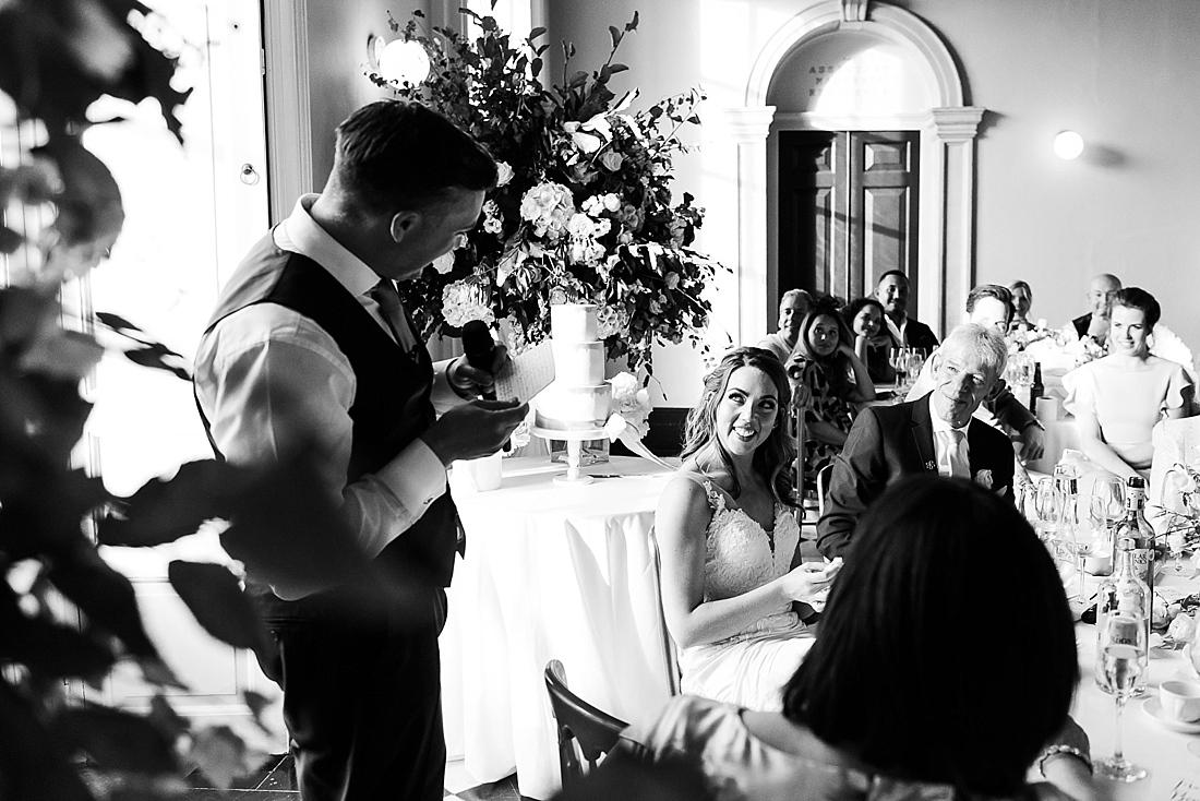 Romantic portrait London wedding