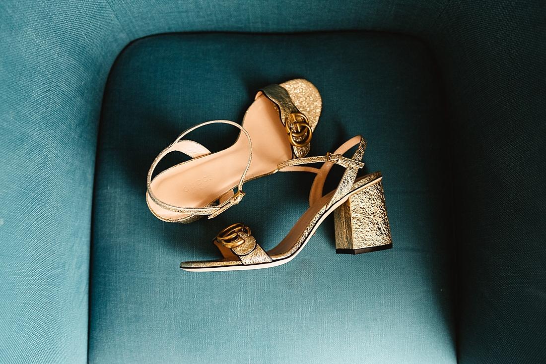 Gold wedding shoes London