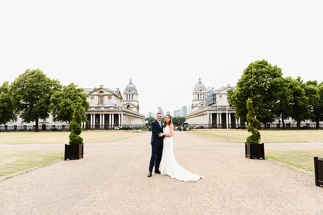London wedding portrait Greenwich