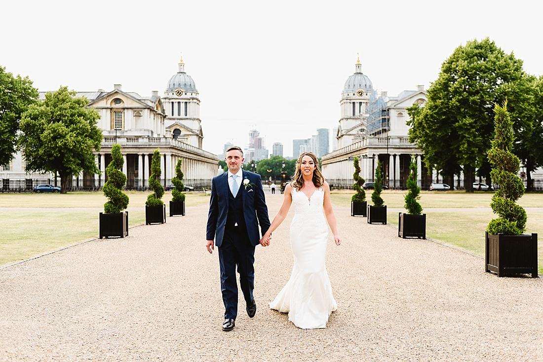 Greenwich wedding portrait London