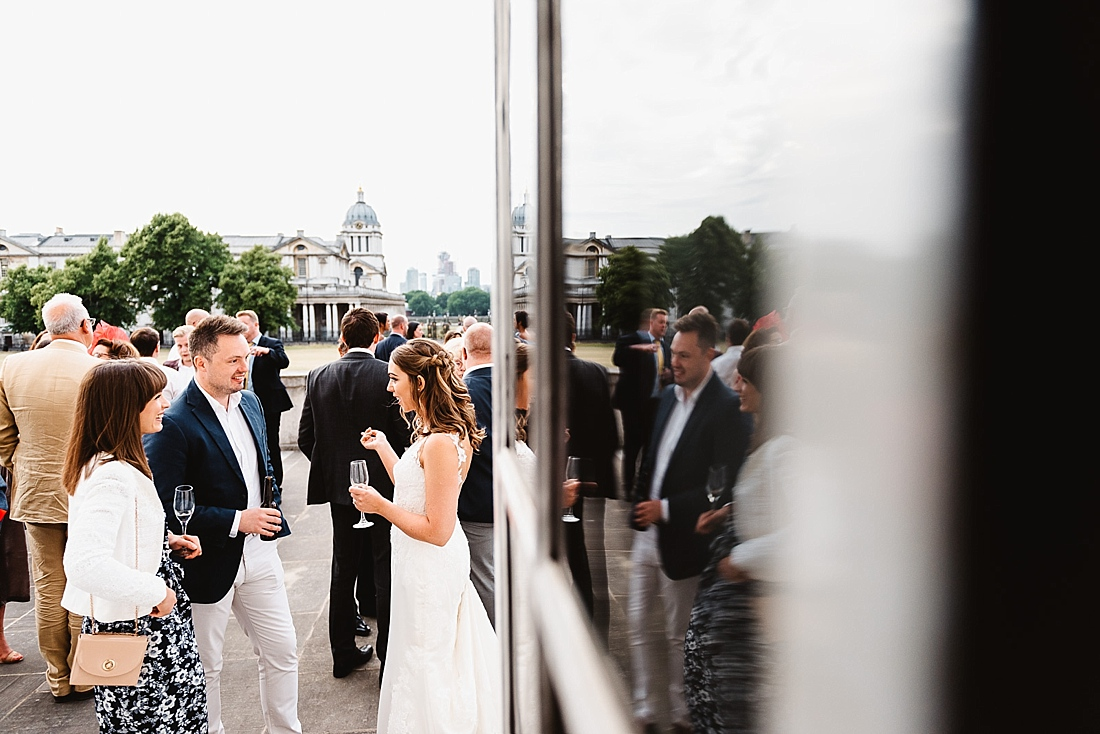 Outdoor wedding reception London